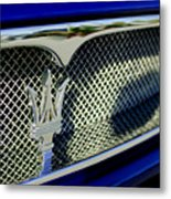 2002 Maserati Hood Ornament Metal Print by Jill Reger