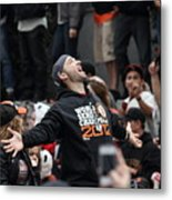 2012 San Francisco Giants World Series Champions Parade - Marco Scutaro - Dpp0008 Metal Print by Wingsdomain Art and Photography