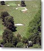2nd Hole Philadelphia Cricket Club St Martins Golf Course Metal Print by Duncan Pearson