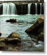 Falling Water Falls Metal Print by Iris Greenwell