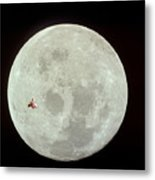 Fifi Goes To The Moon Metal Print by Michael Ledray