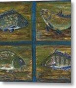 4 Fishes Metal Print by Anna Folkartanna Maciejewska-Dyba