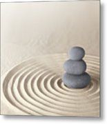 Japanese Zen Garden Metal Print by Dirk Ercken