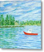 Maine Lobster Boat Metal Print by Collette Hurst