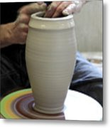 Pottery Wheel, Sequence Metal Print by Ted Kinsman