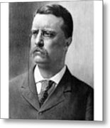 President Theodore Roosevelt Metal Print by War Is Hell Store