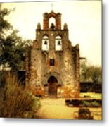 Mission Espada Metal Print by Iris Greenwell