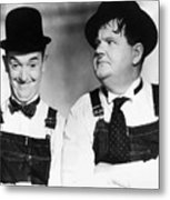 Laurel And Hardy Metal Print by Granger