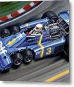 6 Wheel Tyrrell P34 F-1 Car Metal Print by David Kyte