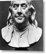Benjamin Franklin (1706-1790) Metal Print by Granger