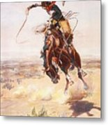 A Bad Hoss Metal Print by Charles Russell