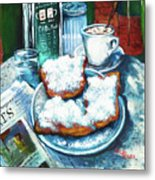 A Beignet Morning Metal Print by Dianne Parks