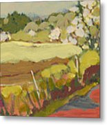 A Bend In The Road Metal Print by Jennifer Lommers