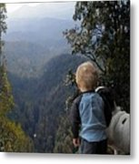 A Boy And His Dog Metal Print by Robert Meanor