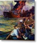 A Careless Word A Needless Sinking Metal Print by War Is Hell Store