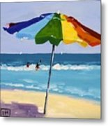 A Colorful Spot Metal Print by Debbie Miller