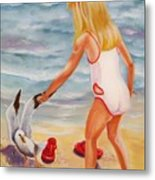 A Day At The Beach Metal Print by Joni McPherson