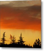 A Distant Rain Metal Print by CML Brown