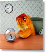 A Fish Out Of Water Metal Print by Carrie Jackson