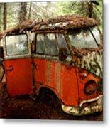 A Forgotten 23 Window Vw Bus  Metal Print by Michael David Sorensen