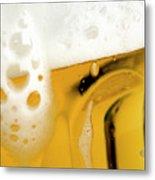 A Glass Of Beer Metal Print by Caspar Benson