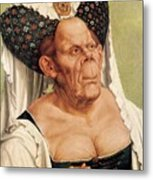 A Grotesque Old Woman Metal Print by Quentin Massys