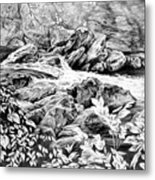 A Hiker's View - Landscape Print Metal Print by Kelli Swan