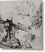 A Man Of Sorrows Metal Print by Rachel Christine Nowicki