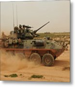 A Marine Corps Light Armored Vehicle Metal Print by Stocktrek Images