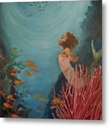A Mermaid's Journey Metal Print by Amira Najah Whitfield