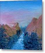 A Mighty River Canyon Metal Print by Jera Sky