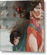 A Mother's Resolve Metal Print by Elizabeth Carr