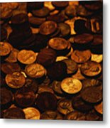 A Mound Of Pennies Metal Print by Joel Sartore