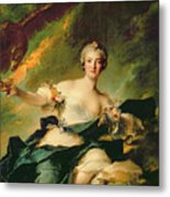 A Portrait Of Anne Josephe Bonnnier De La Mossau  Metal Print by Jean Marc Nattier