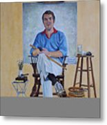 A Rockwell Tribute Metal Print by Michael Lewis