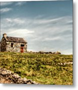 A Shack On The Aran Islands Metal Print by Natasha Bishop