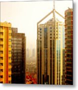 A Shanghai Sunset Metal Print by Christine Till