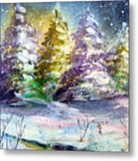 A Silent Night Metal Print by Mindy Newman