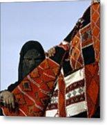 A Veiled Bedouin Woman Peers Metal Print by Thomas J. Abercrombie