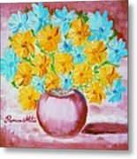 A Whole Bunch Of Daisies Metal Print by Ramona Matei