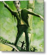 A Zombie In Herne Bay Metal Print by Paul Mitchell