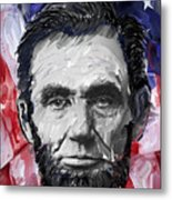 Abraham Lincoln - 16th U S President Metal Print by Daniel Hagerman