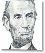 Abraham Lincoln Metal Print by David Houston