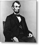 Abraham Lincoln Portrait - Used For The Five Dollar Bill - C 1864 Metal Print by International  Images