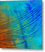 Abstract Art  Painting Freefall By Ann Powell Metal Print by Ann Powell