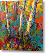 Abstract Autumn II Metal Print by Marion Rose