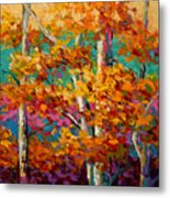 Abstract Autumn IIi Metal Print by Marion Rose