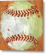 Abstract Baseball Metal Print by David G Paul