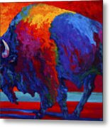 Abstract Bison Metal Print by Marion Rose