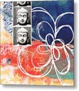 Abstract Buddha Metal Print by Linda Woods
